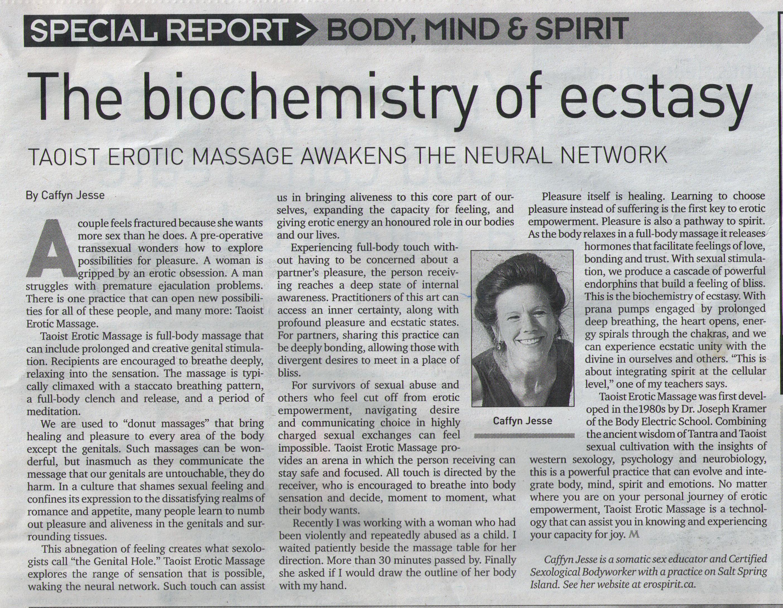 The Biochemistry of Ecstasy by Caffyn Jesse
